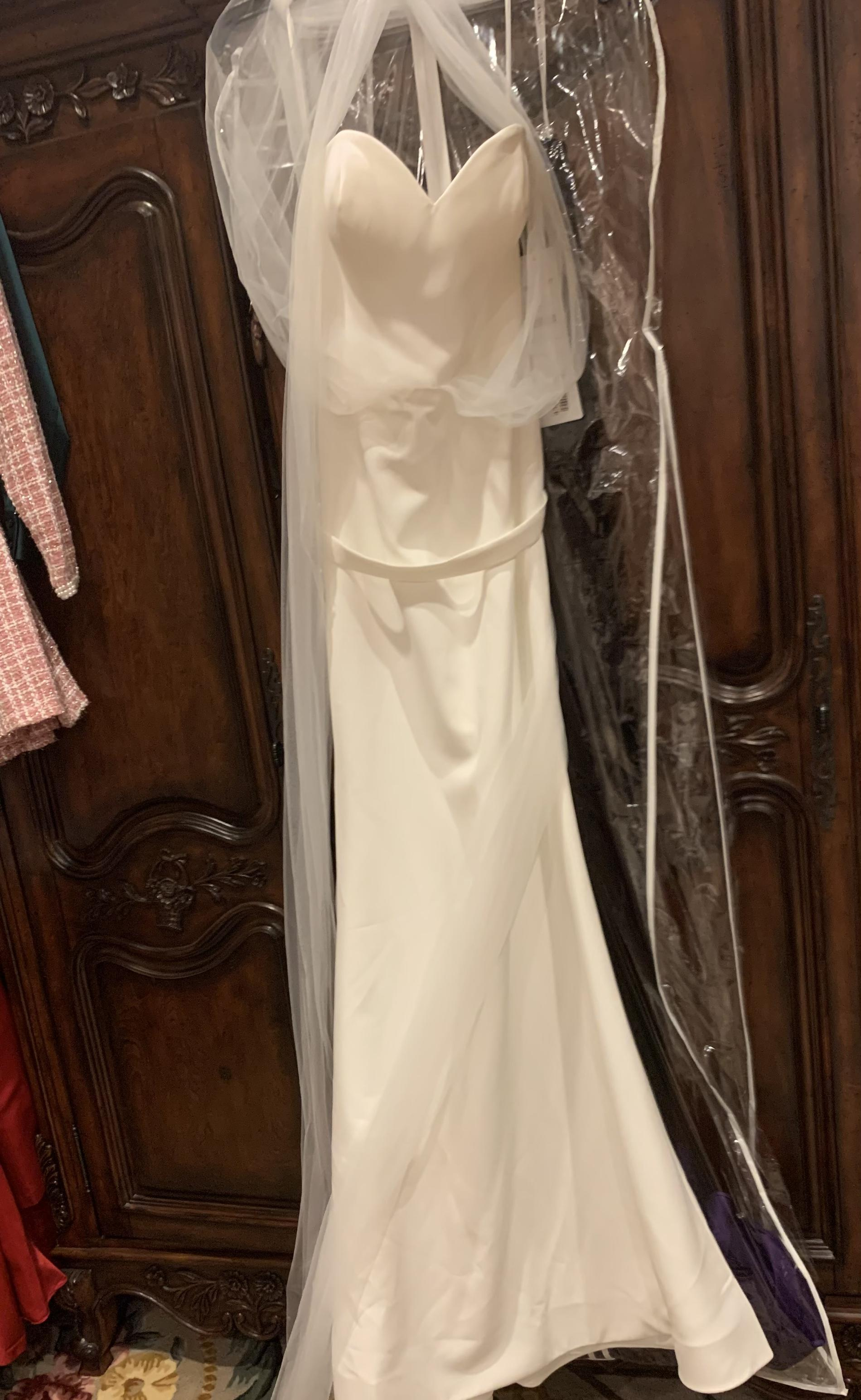 Portia and Scarlett White Size 2 Pageant Wedding Straight Dress on Queenly