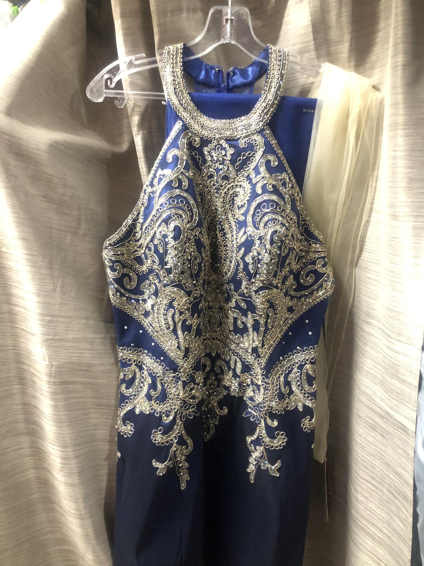 MAY QUEEN Blue Size 12 Sorority Formal Homecoming Cocktail Dress on Queenly