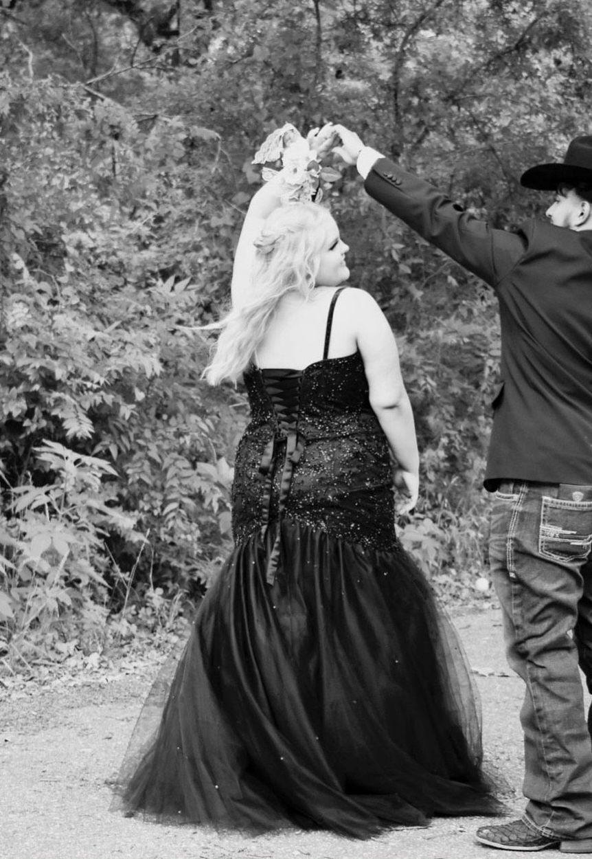 Black Size 18 Mermaid Dress on Queenly