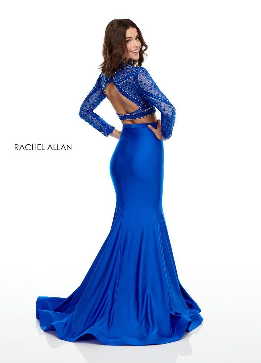 Style 7128 Rachel Allan Royal Blue Size 10 Jersey Pageant Mermaid Dress on Queenly