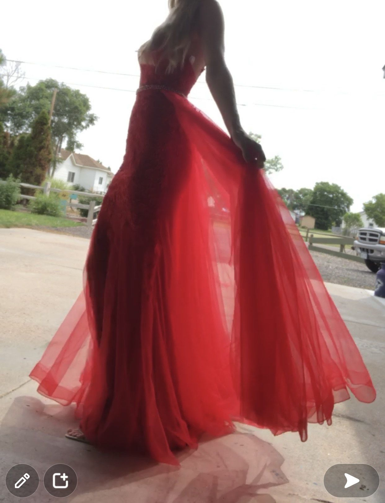 Jovani Red Size 2 Pageant Mermaid Flare A-line Dress on Queenly