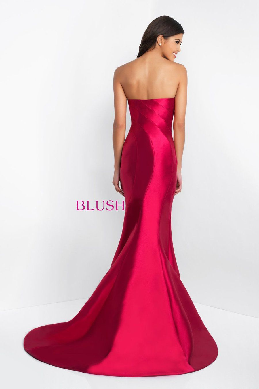 Style C1063 BLUSH PROM  Blue Size 0 Mermaid Side slit Dress on Queenly