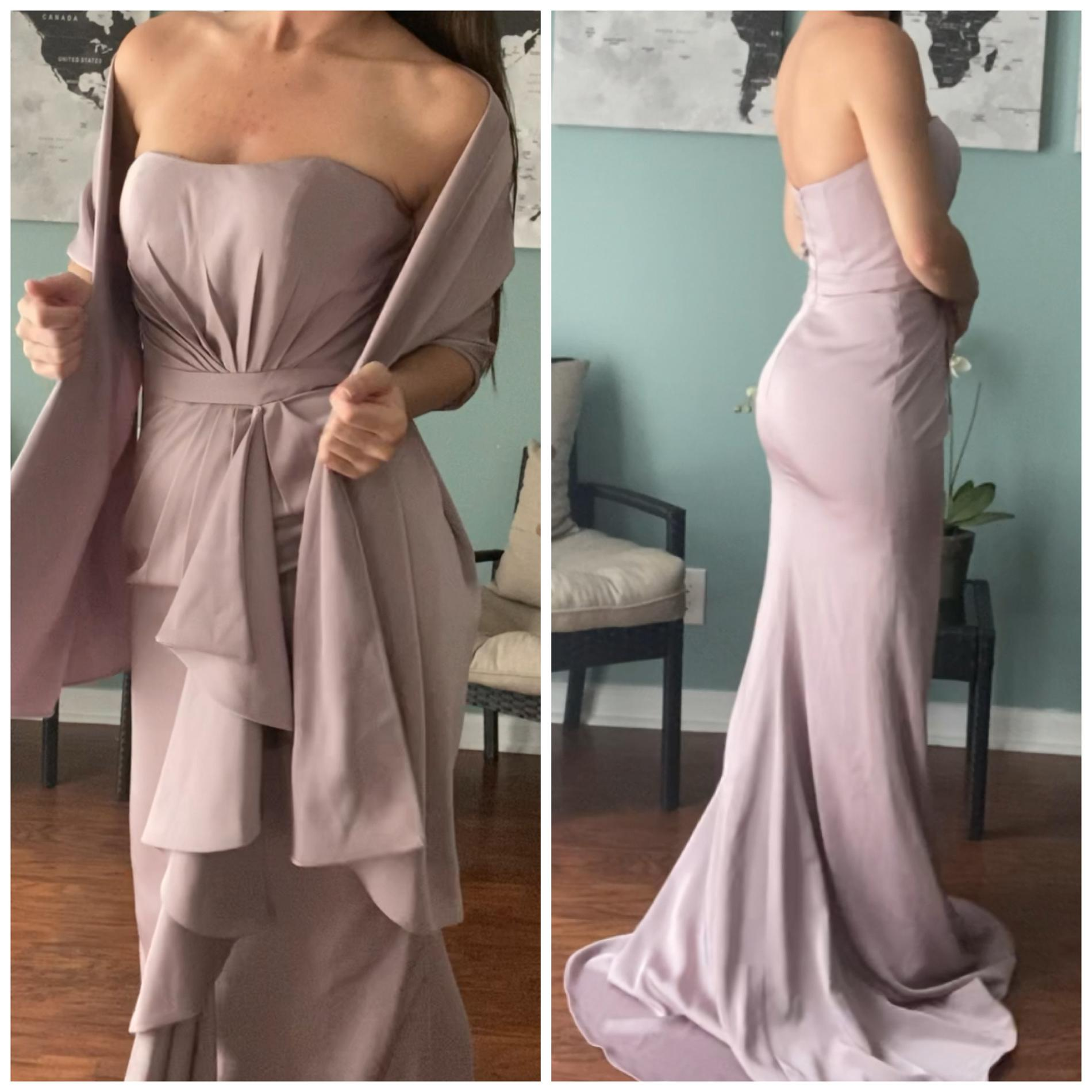 Jovani Purple Size 2 Prom Pageant Silk Straight Dress on Queenly