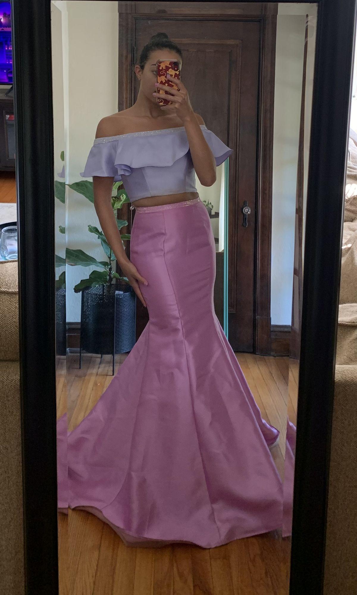 Ellie Wilde Purple Size 6 Wedding Guest Prom Mermaid Dress on Queenly