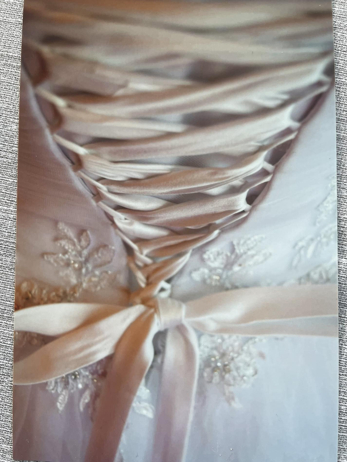 David's Bridal White Size 12 Sweetheart Medium Height Tulle Silk Ball gown on Queenly