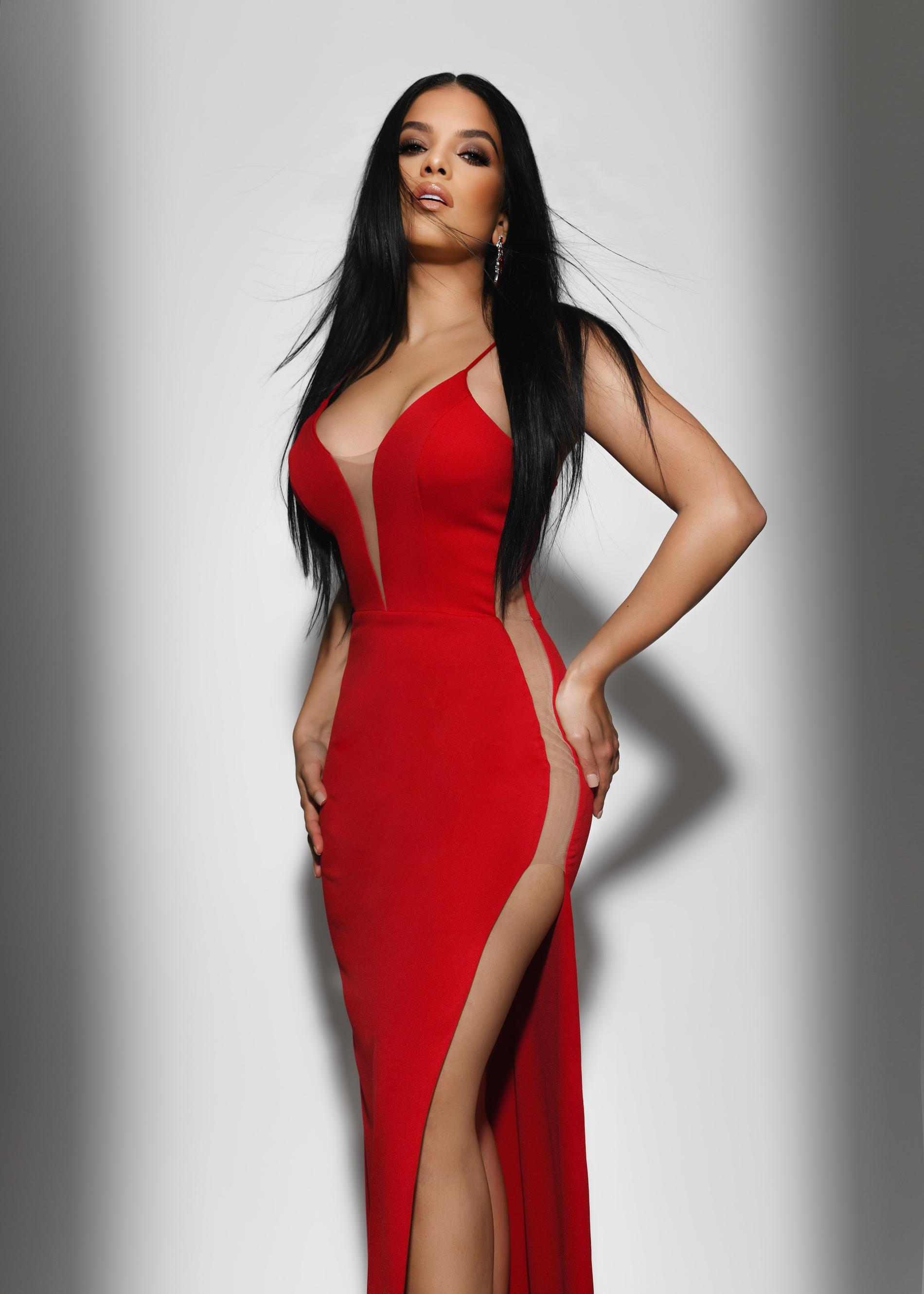 Fernando Wong Red Size 2 Pageant Fitted Mermaid Straight Dress on Queenly