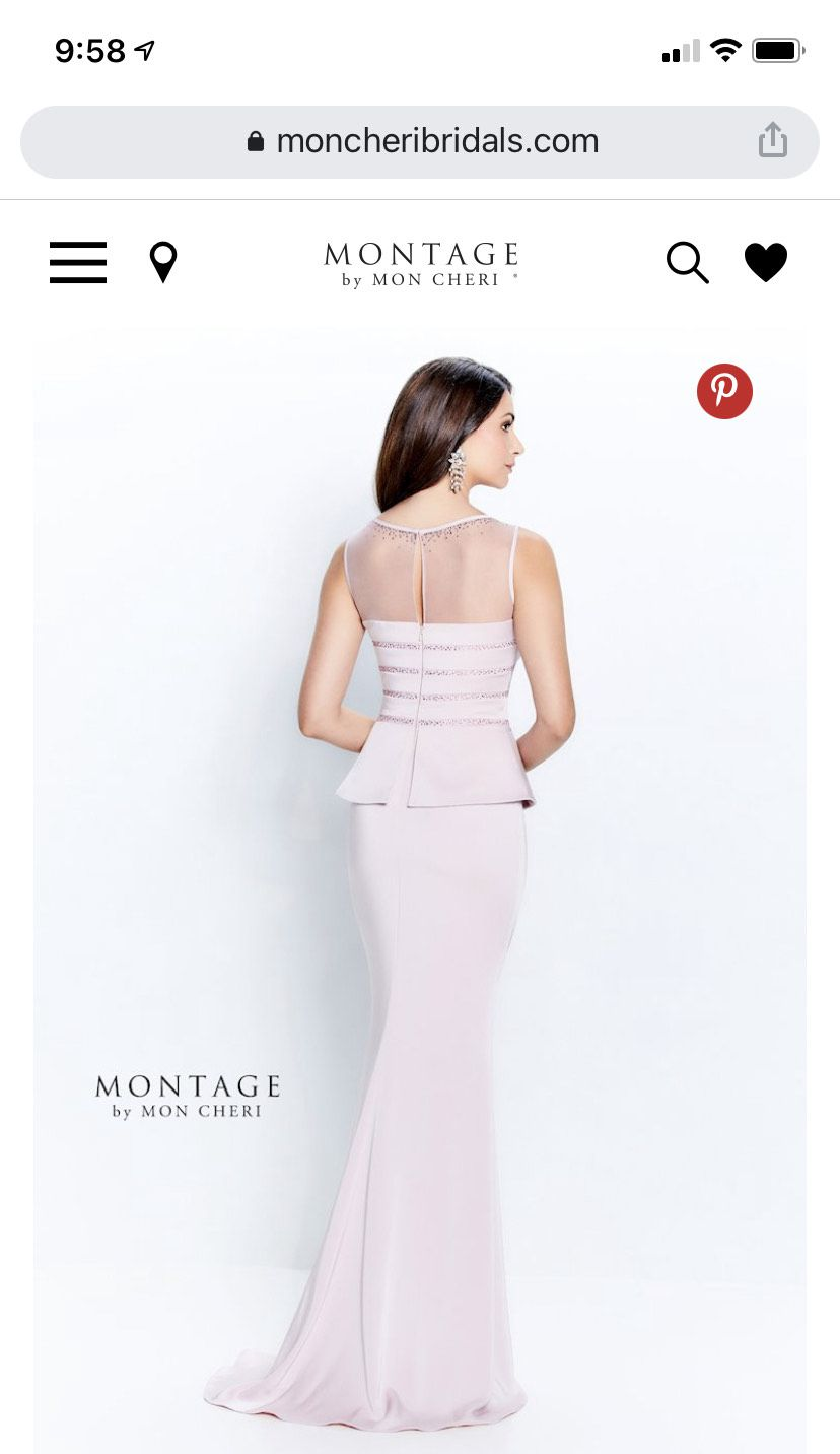 Montage by Mon Cheri Pink Size 16 Sequin Mermaid Train Straight Dress on Queenly