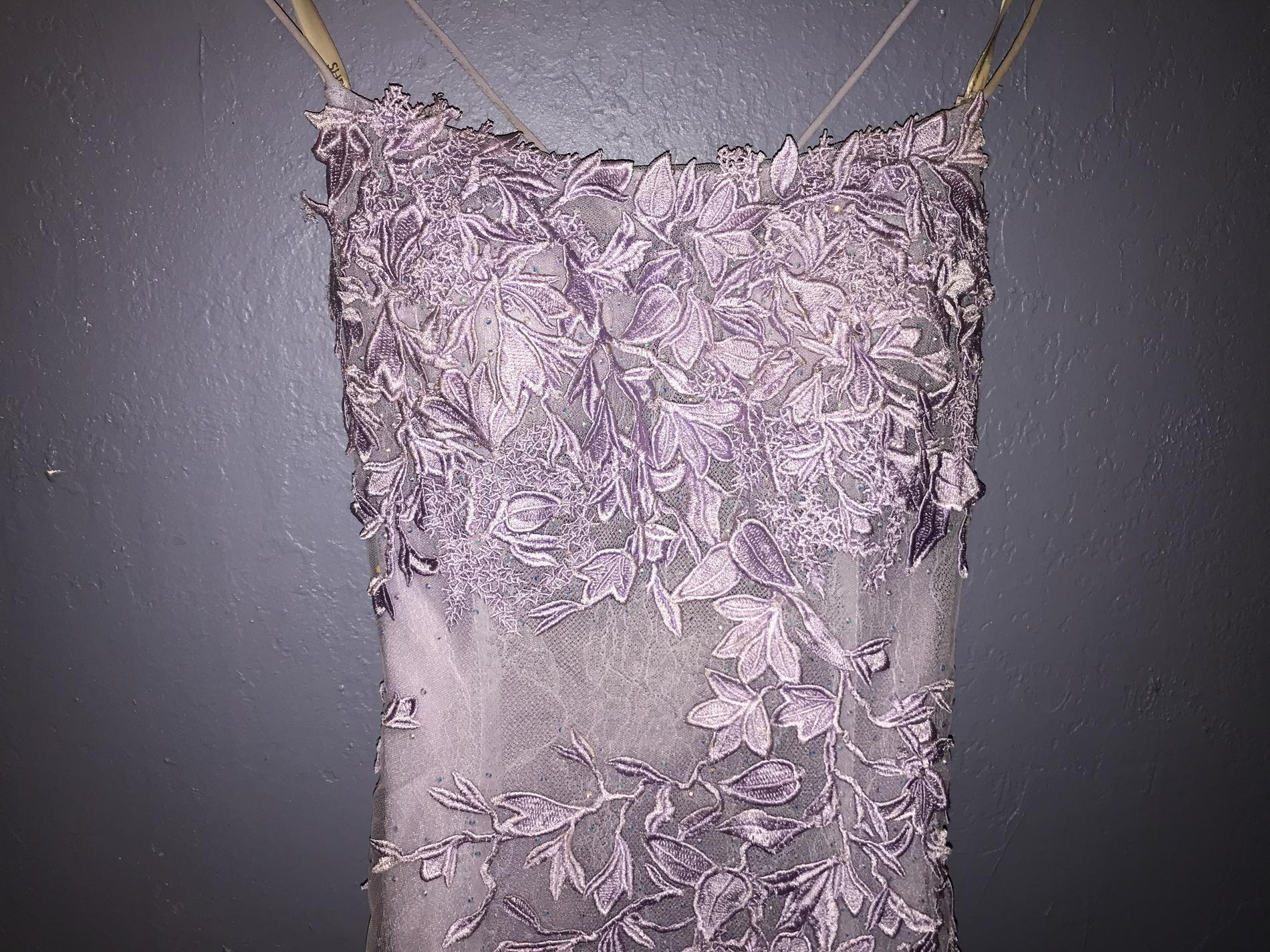 Sherri Hill Purple Size 4 Cocktail Medium Height Polyester Silk Ball gown on Queenly