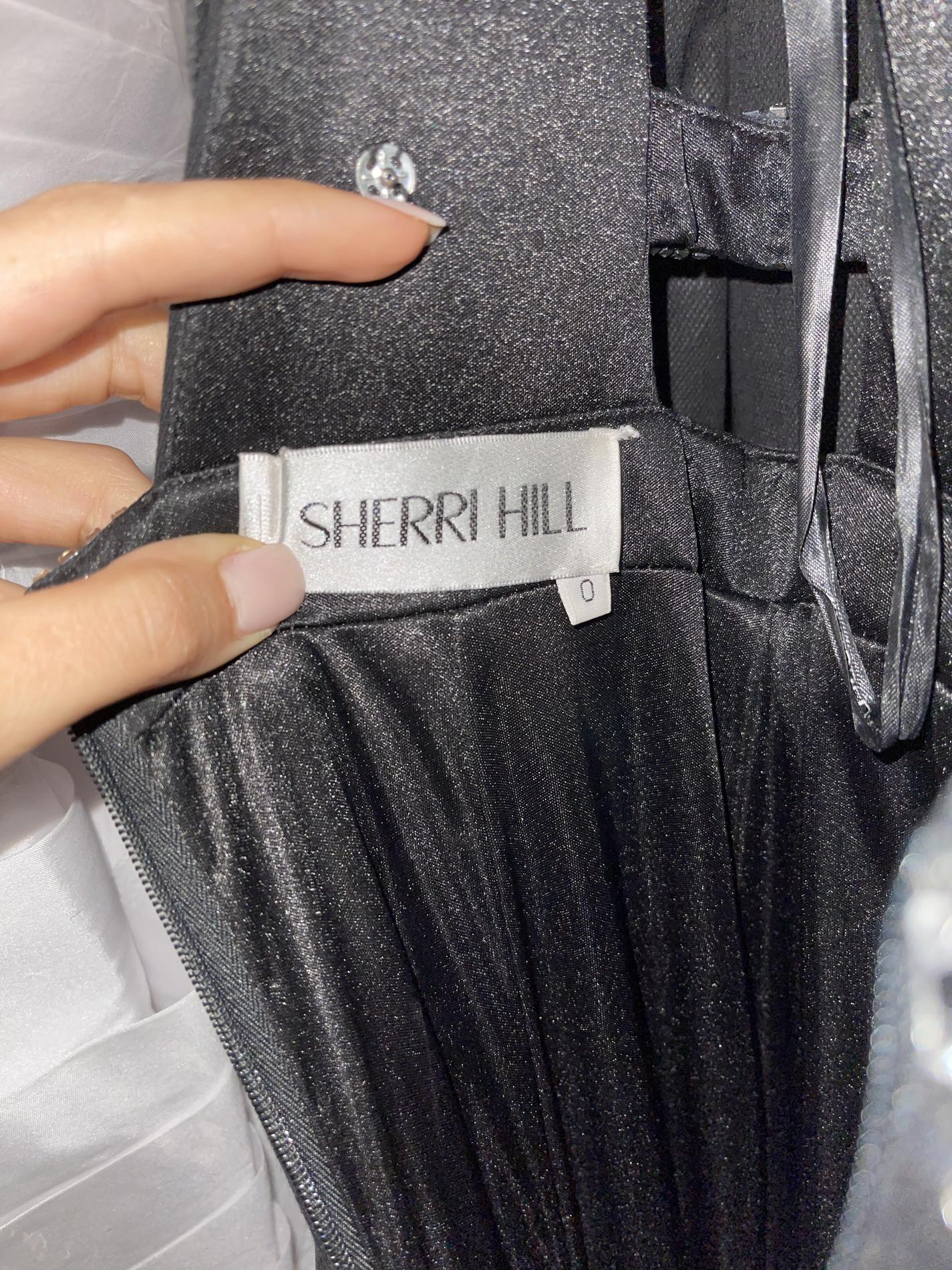 Sherri Hill Black Size 0 Straight Dress on Queenly
