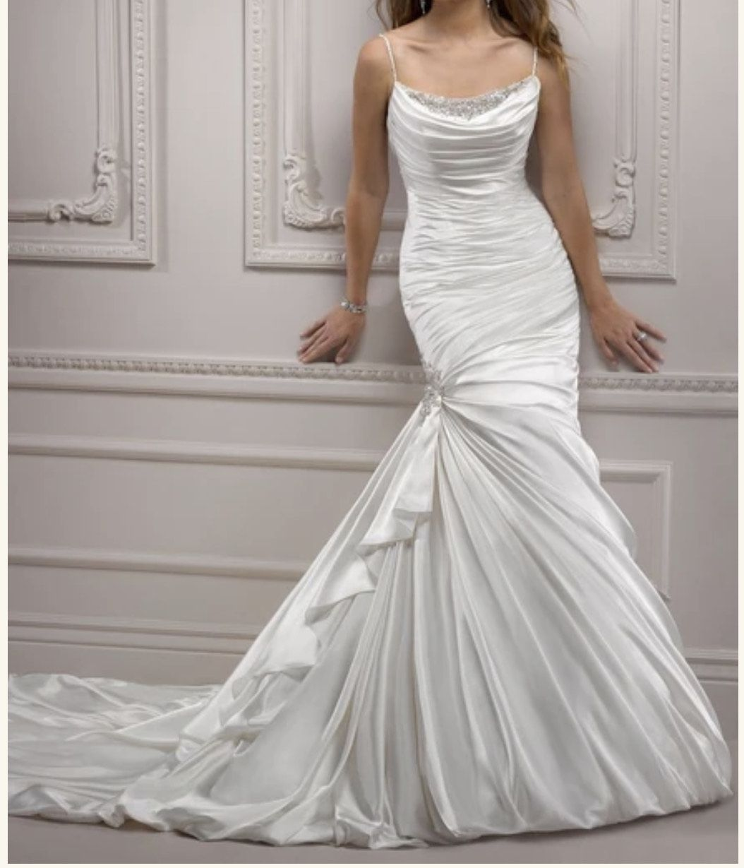 White Size 16 Train Dress on Queenly