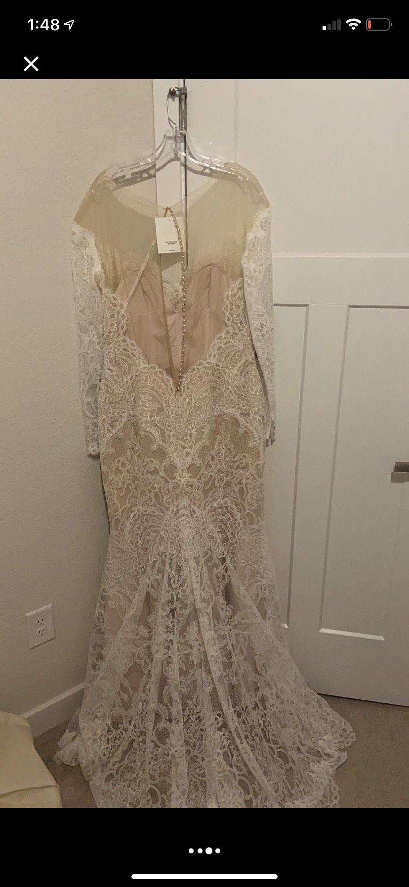 Watters White Size 16 Lace Sweetheart Mermaid Dress on Queenly