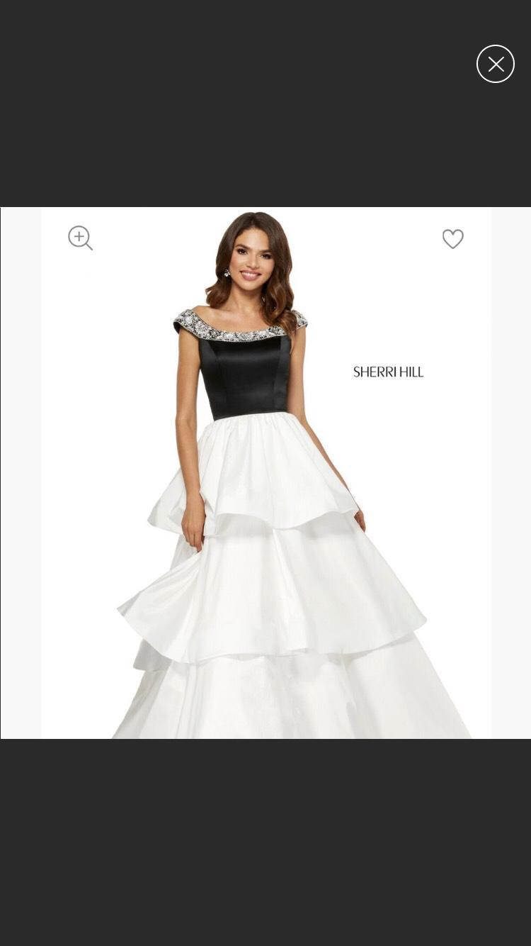 Sherri Hill White Size 0 Tall Height A-line Dress on Queenly