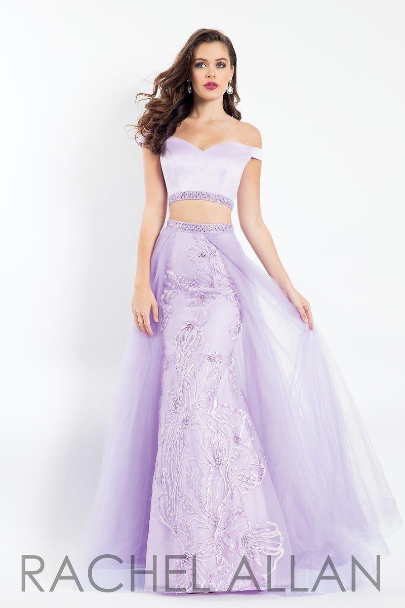 Style 6198 Rachel Allan Purple Size 8 Prom Sweetheart Silk Overskirt Tall Height A-line Dress on Queenly