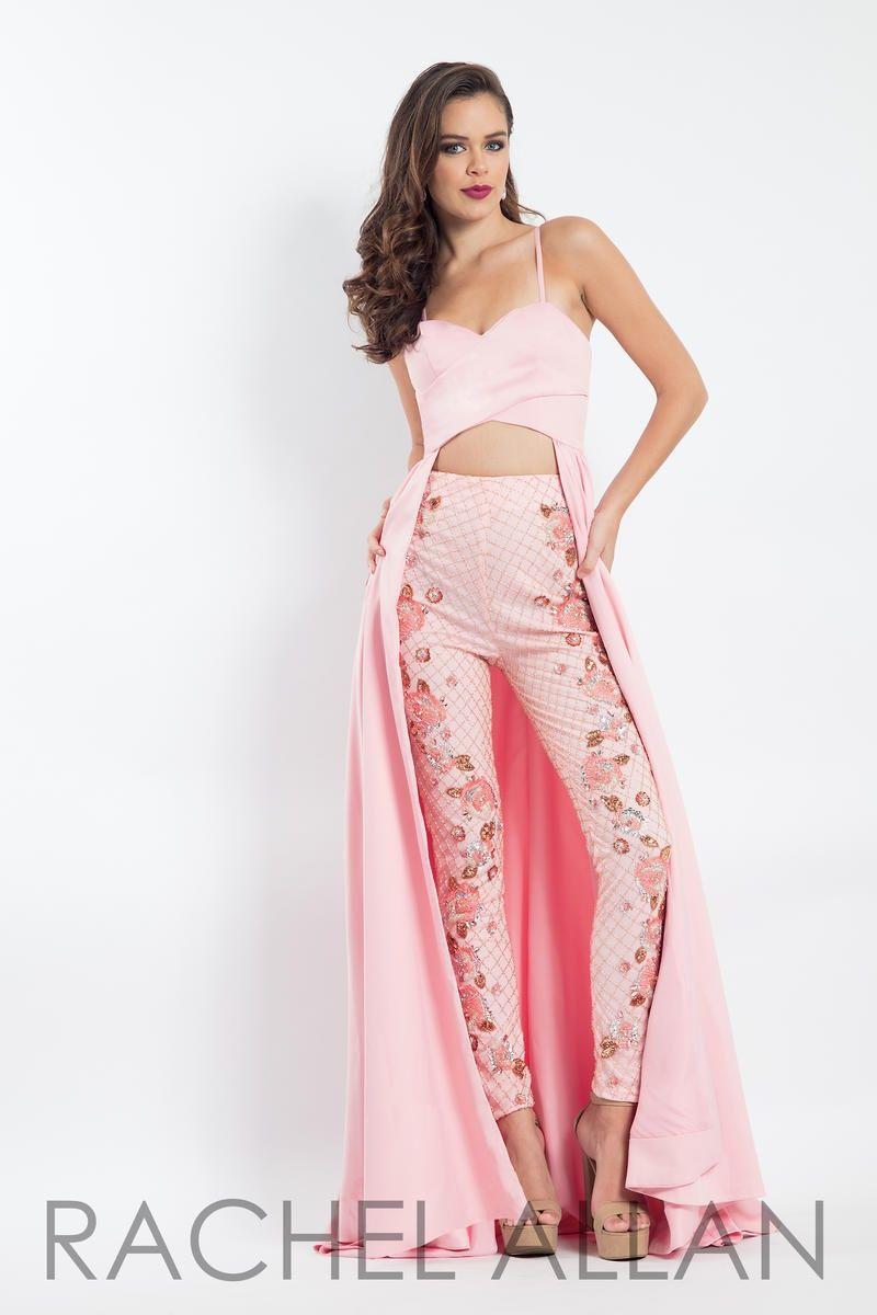 Style 6062 Rachel Allan Blue Size 12 Fun Fashion Plus Size Jersey Pageant Sweetheart Jumpsuit Dress on Queenly
