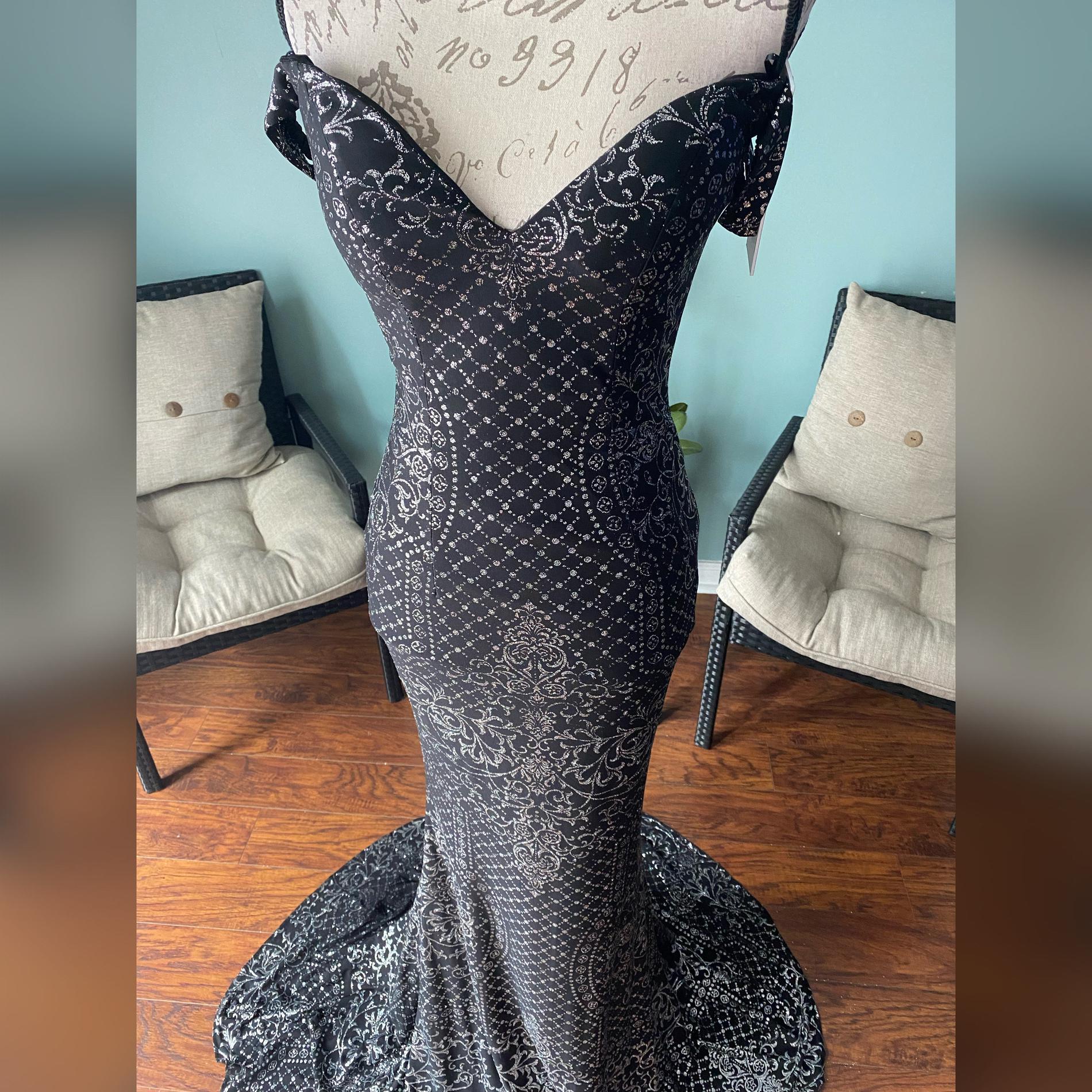 Jovani Black Size 2 Sweetheart Shiny Silver Mermaid Dress on Queenly