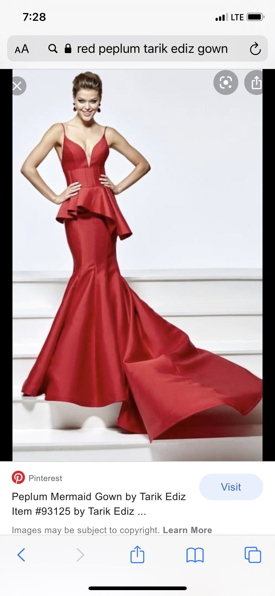 Red Size 14 Mermaid Dress on Queenly