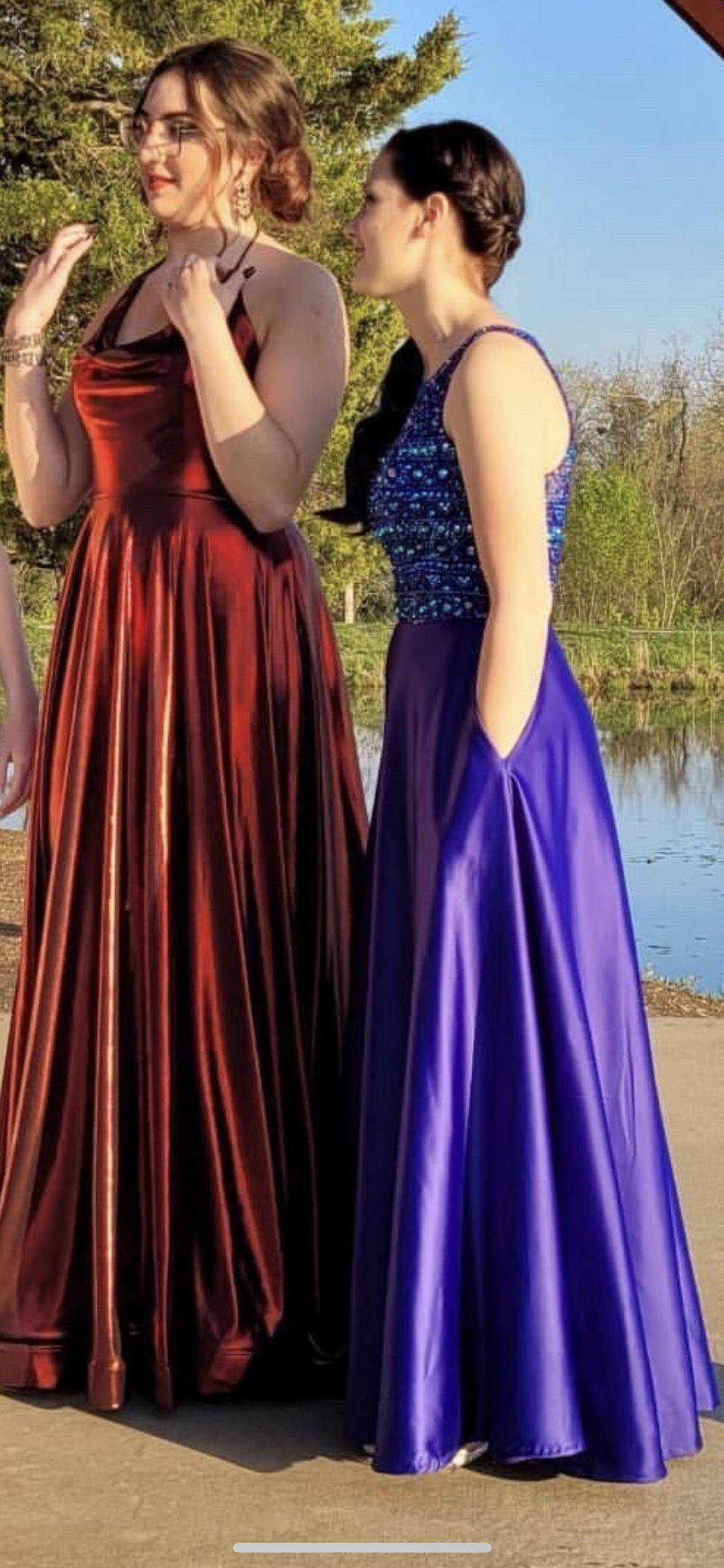 Blush Blue Size 2 Prom Purple Straight Dress on Queenly