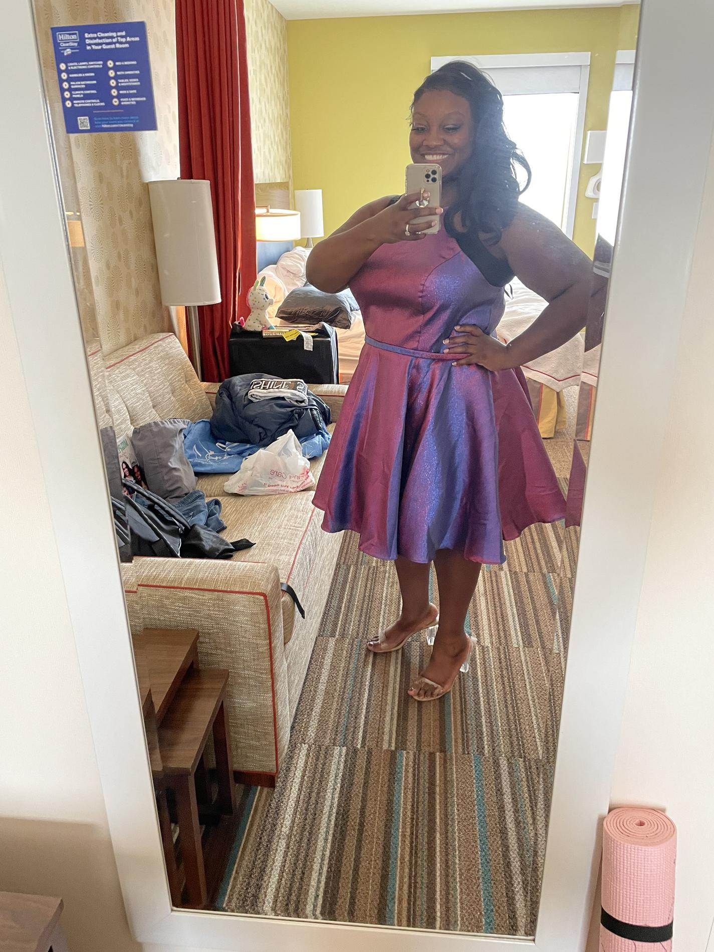 Sydney's Closet Purple Size 20 Homecoming A-line Cocktail Dress on Queenly