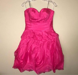 Tony Bowls Pink Size 6 Pattern Cocktail Dress on Queenly