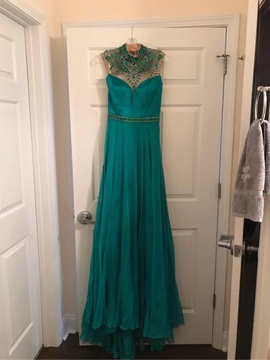 Sherri Hill Green Size 0 Sequin Straight Dress on Queenly