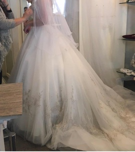 White Size 2 Ball gown on Queenly