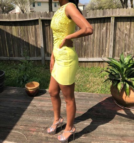 Venus Yellow Size 4 Interview Cocktail Dress on Queenly