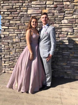 Sherri Hill Pink Size 8 Shiny Prom Ball gown on Queenly