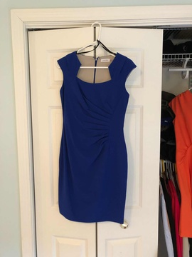 Queenly size 8 Calvin Klein Blue Cocktail evening gown/formal dress