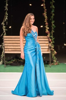 Sherri Hill Blue Size 6 Prom Silk Side slit Dress on Queenly