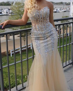 Jovani White Size 8 Mermaid Dress on Queenly