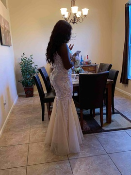 Windsor Silver Size 8 Prom Mermaid Dress on Queenly