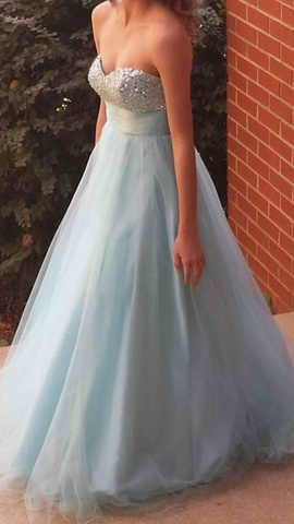Queenly size 2  Blue Ball gown evening gown/formal dress