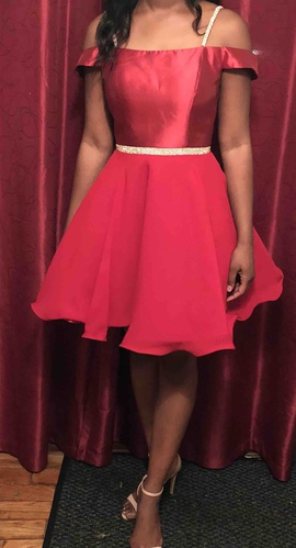 Queenly size 4 Jovani Red Cocktail evening gown/formal dress