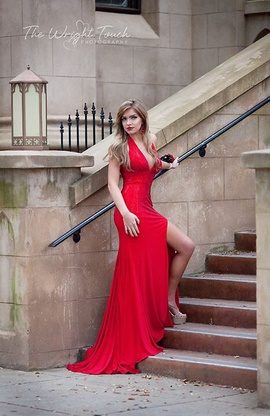 Mac Duggal Red Size 0 Train Side slit Dress on Queenly
