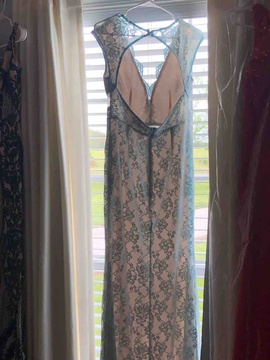 Saved By The Dress Blue Size 6 Straight Dress on Queenly