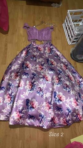 Queenly size 2 Ellie Wilde Purple Ball gown evening gown/formal dress