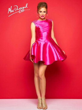 Mac Duggal Pink Size 4 Silk Interview Cocktail Dress on Queenly