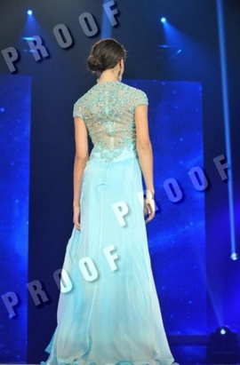 Tony Bowls Blue Size 2 Beaded Custom A-line Dress on Queenly