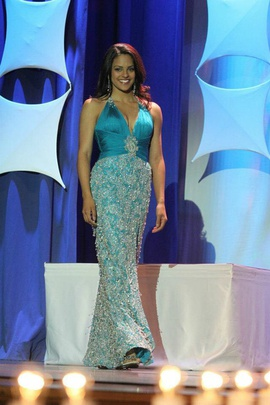 Mac Duggal Blue Size 6 Beaded Side slit Dress on Queenly