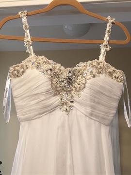 Sherri Hill White Size 0 Custom Straight Dress on Queenly