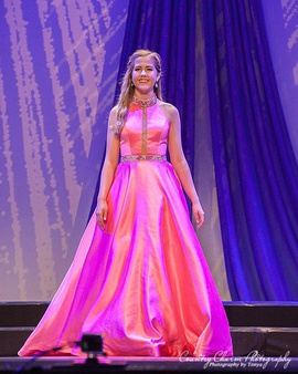 Queenly size 4 Sherri Hill Pink A-line evening gown/formal dress