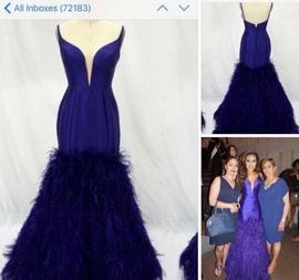 Jovani Purple Size 0 Mermaid Dress on Queenly