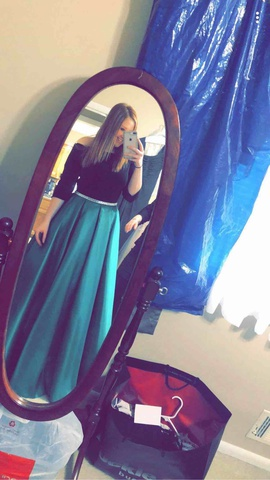 Green Size 12 Ball gown on Queenly