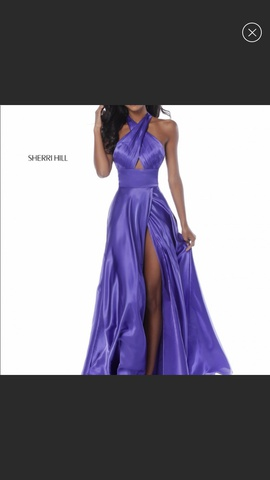 Queenly size 0  Purple Side slit evening gown/formal dress