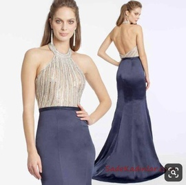 Xscape Navy Blue Size 0 Sequin Mermaid Dress on Queenly