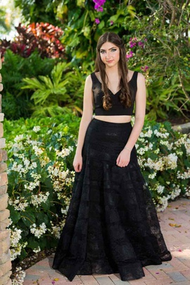 Sherri Hill Black Size 6 A-line Dress on Queenly
