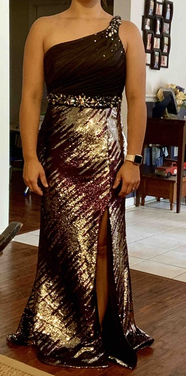 Queenly size 8  Silver A-line evening gown/formal dress