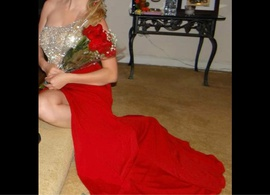 Jovani Red Size 0 Side slit Dress on Queenly