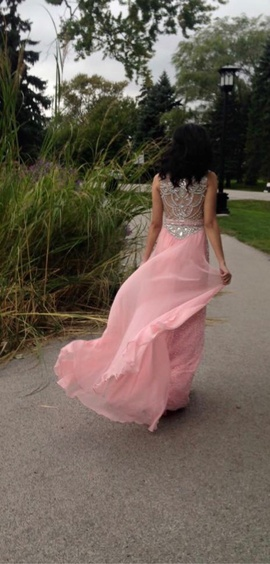 Sherri Hill Pink Size 0 Straight Sheer Straight Dress on Queenly