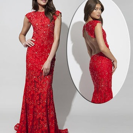 Jovani Red Size 2 Mermaid Dress on Queenly